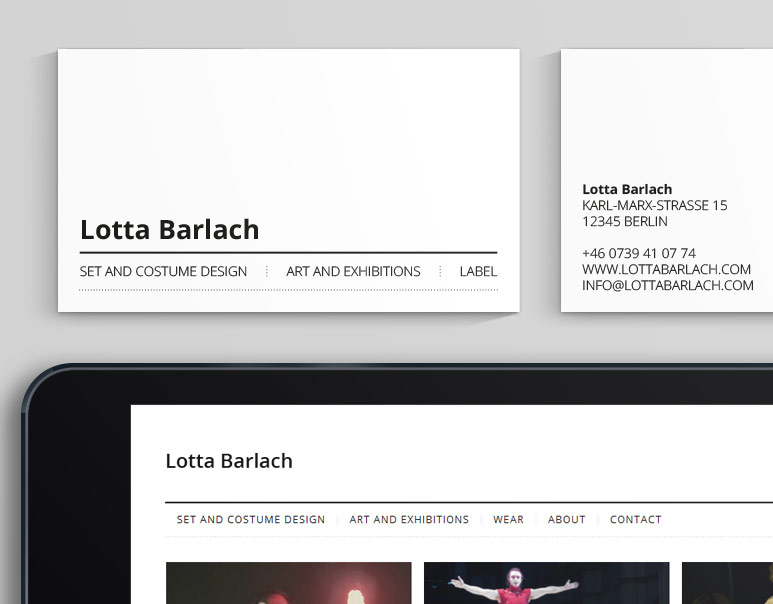 Corporate Design Branding Webdesign Lotta Barlach