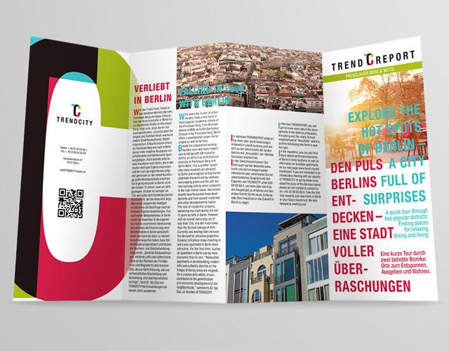 Coroporate Design Branding Printdesign Flyer TRENDCITY Berlin