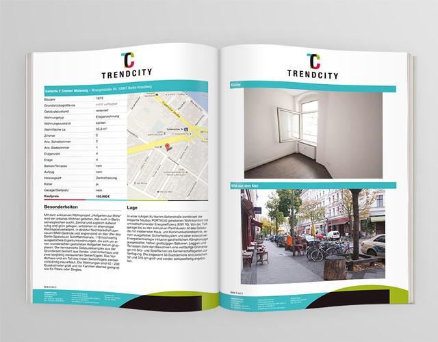 Coroporate Design Branding Printdesign Expose TRENDCITY Berlin
