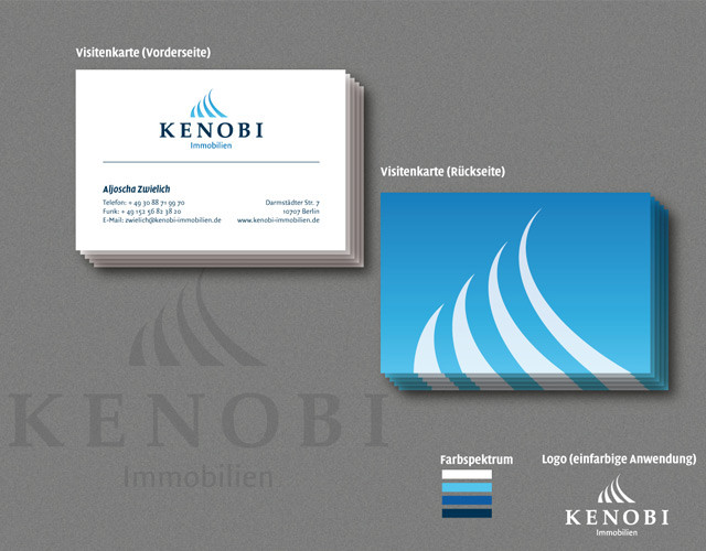 corporate-design branding Kenobi Immobilien visitenkarten