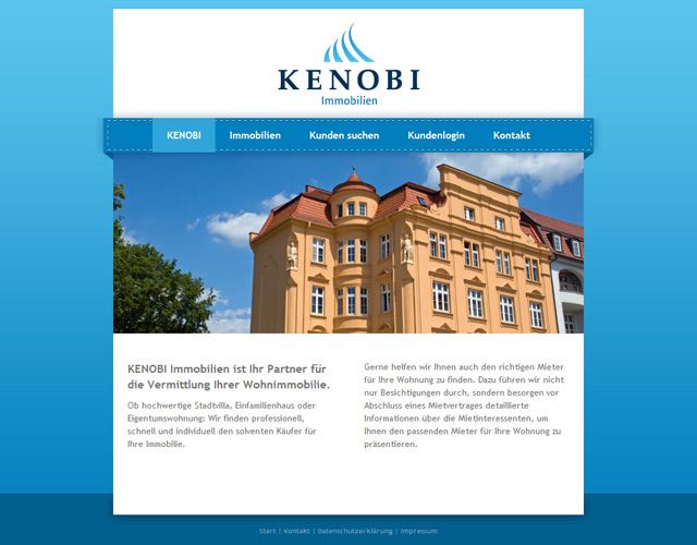 corporate-design branding Kenobi Immobilien