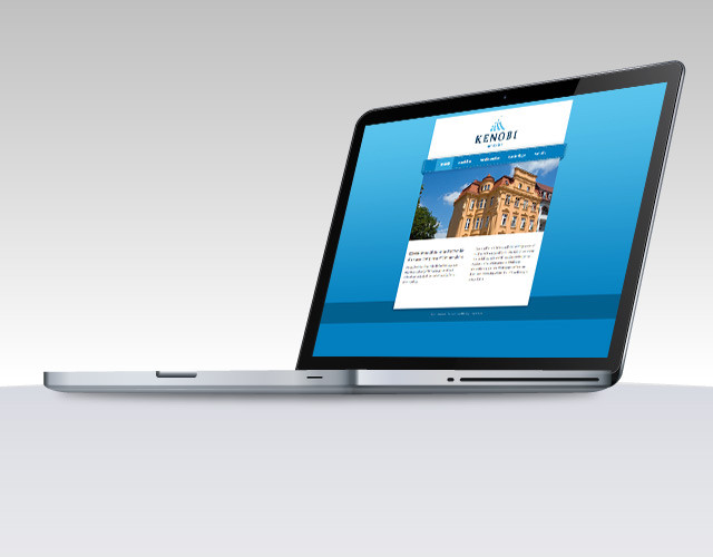 corporate-design branding Kenobi Immobilien webdesign