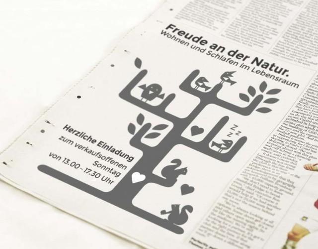 Printdesign Zeitung Werbung Lebensraum