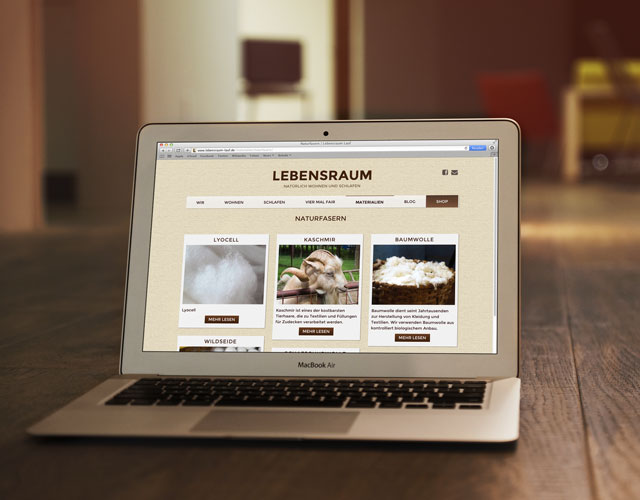 Webdesign Screendesign Lebensraum