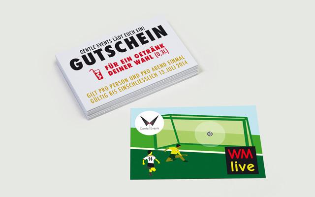 Printdesign Gutscheine GentleWM