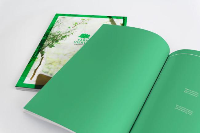 Corporate Design Parkviertel Prenzlauerberg Broschüre Detail