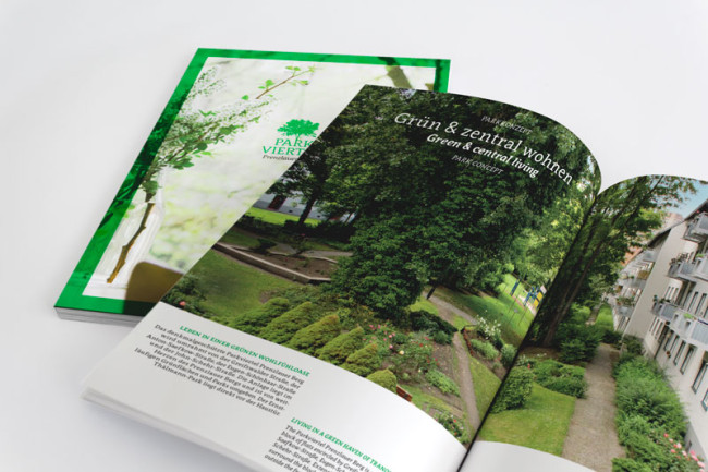 Corporate Design Parkviertel Prenzlauerberg Broschüren Detail