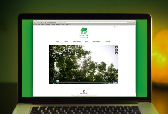 Corporate Design Parkviertel Prenzlauerberg Website Webdesign