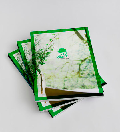 Corporate Design Parkviertel Prenzlauerberg Broschüren