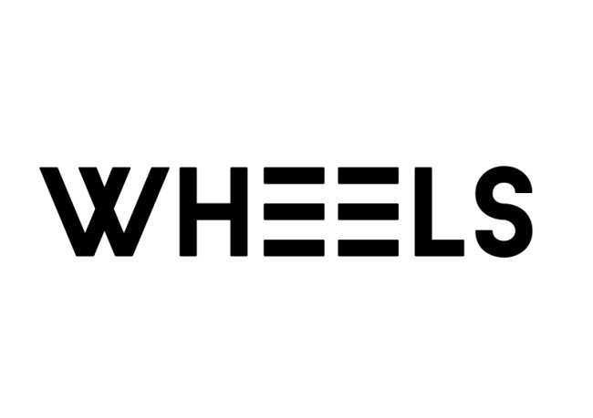 """Corporate Design Mit-Sprache-Recht Schriftzug """"Wheels"""""""