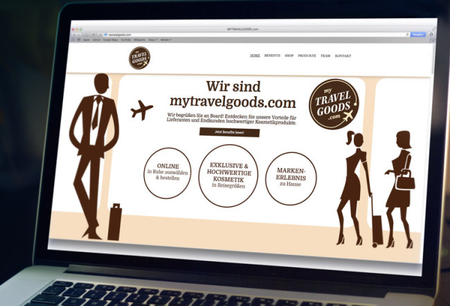 Corporate Design MyTravelGoods Website