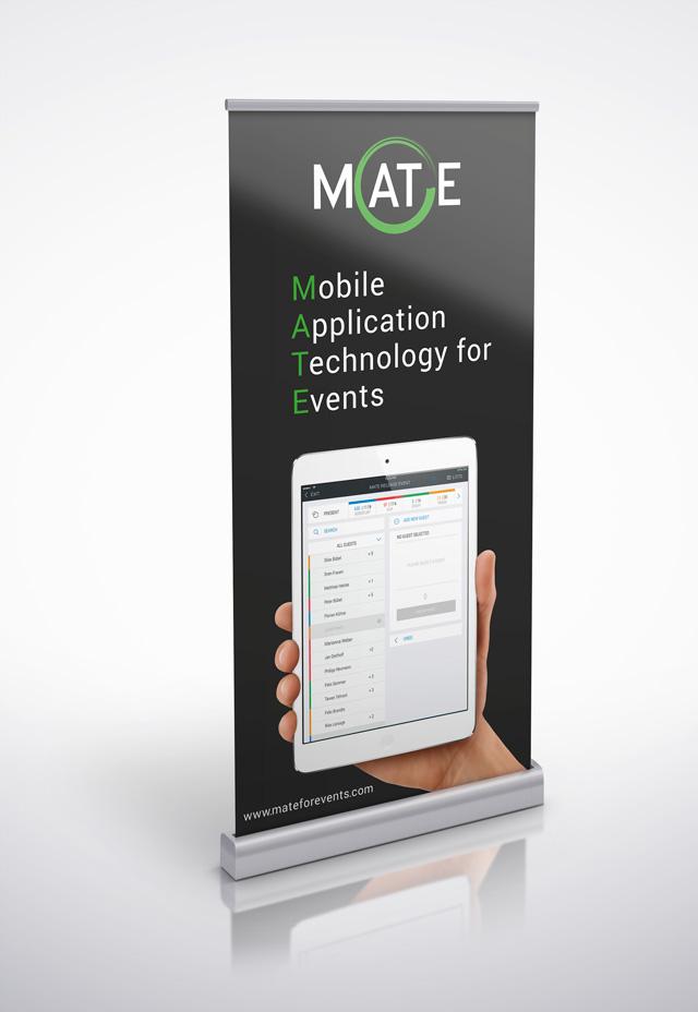 Logo-Design Branding Rollupdisplay MATE