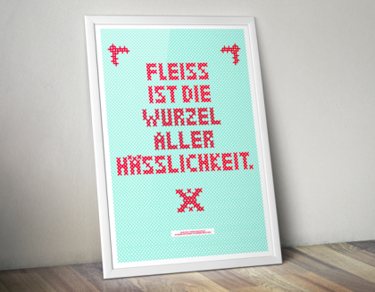 Printdesign Poster Siebdruck Oscar Wilde