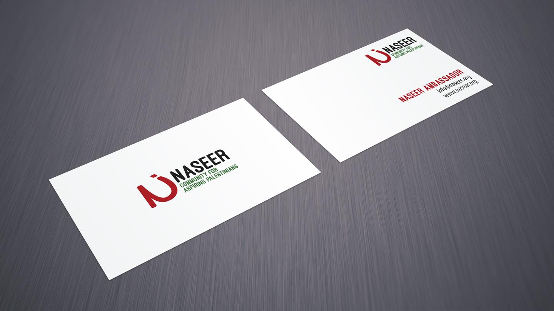 Gestaltung der Visitenkarten von NASEER