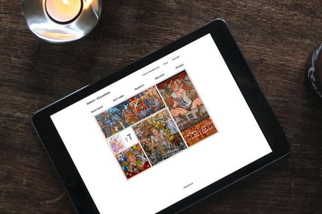 Webdesign KünstlerWebseite