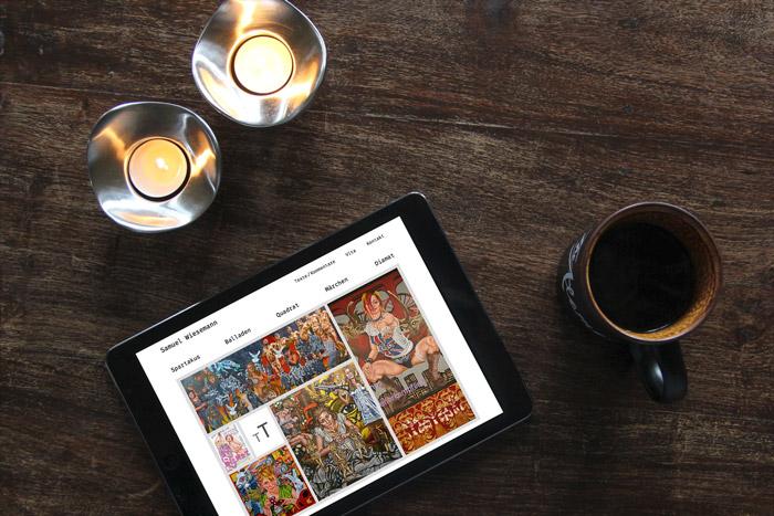 Webdesign Künstler Webseite Samuel Wiesemann