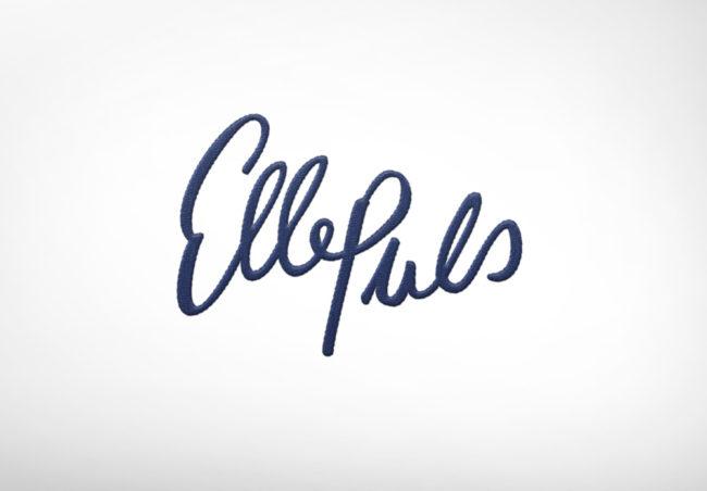 Das Logo in gestickter Form