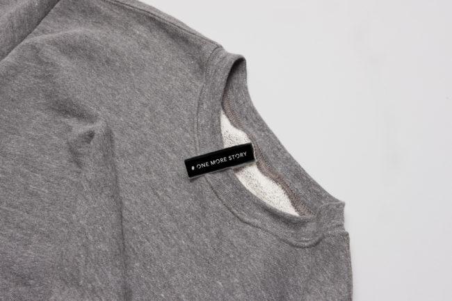 Das Weblabel für die Kleidung
