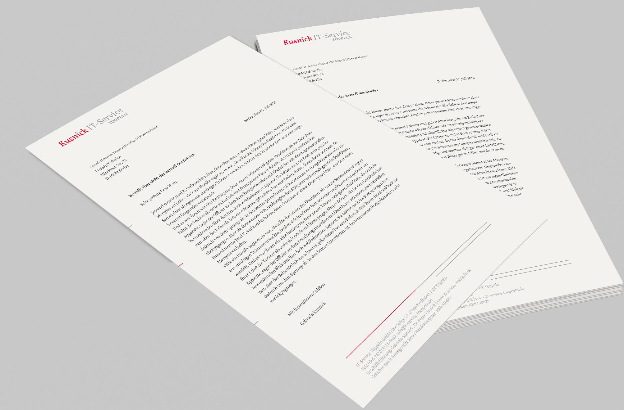 Briefpapier-Design-IT-Service