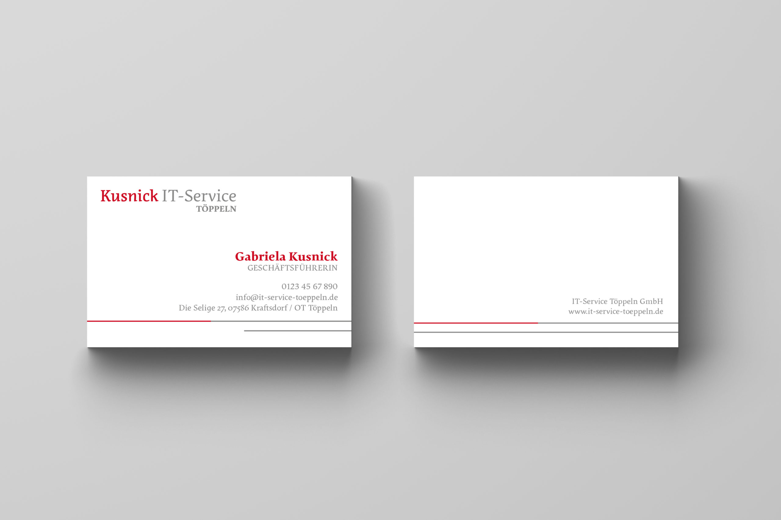 Visitenkarten-Design-IT-Service