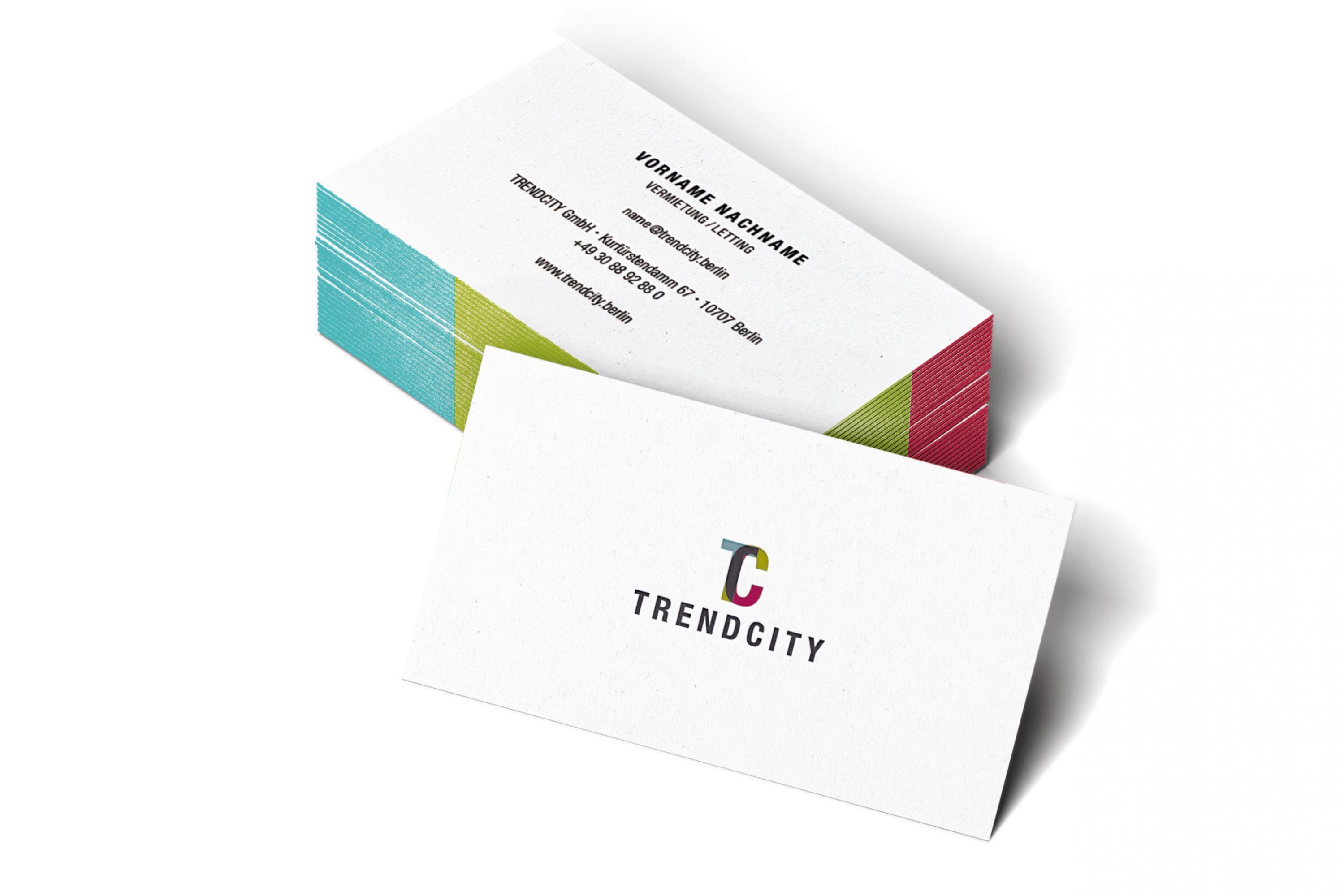 Hochwertige Visitenkarten Für Trendcity Formlos Berlin