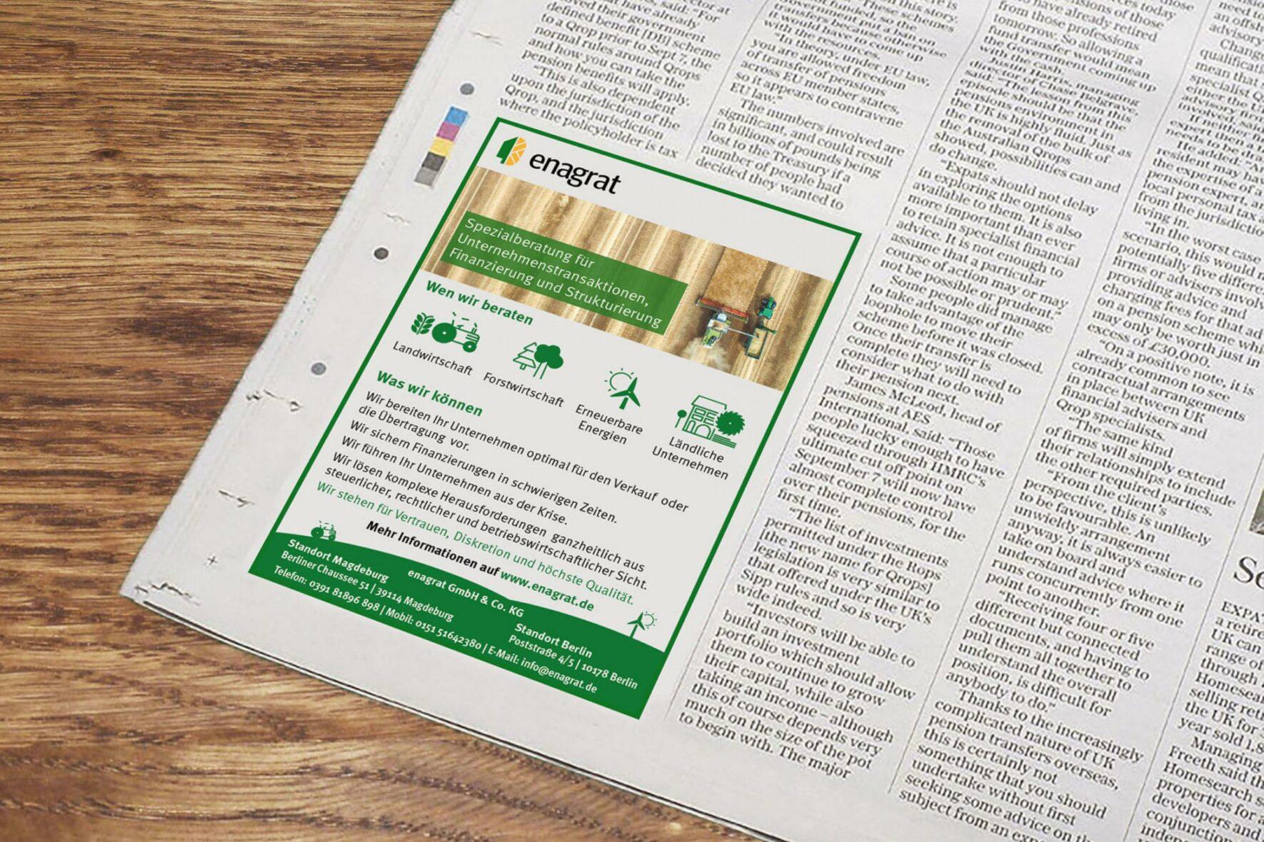 Branding-Beratungsunternehmen-fuer-Land-und-Forstwirtschaft-Zeitungsanzeige-1808x1356
