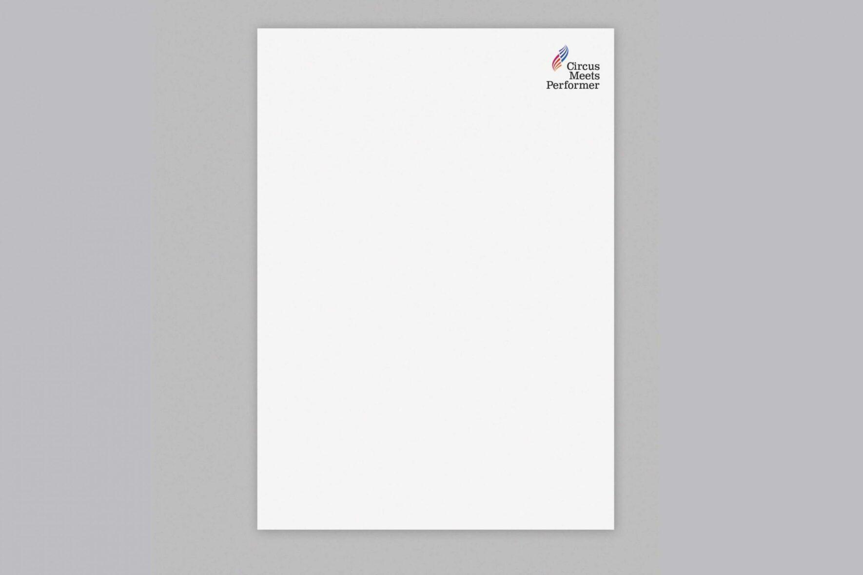 Briefpapier-Künstlerbranche-Briefpapier-Visitenkarte