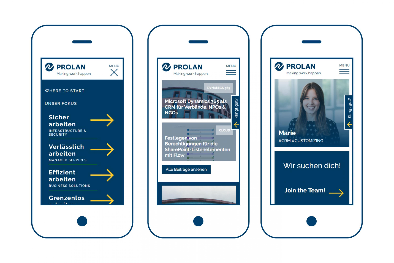 Vorschau-Bild: Webdesign für PROLAN