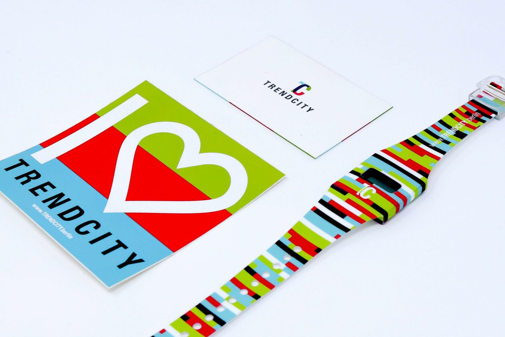 Uhr-Sticker-Visitenkarte