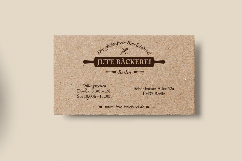 Gestaltung Von Visitenkarten Für Eine Glutenfreie Bio