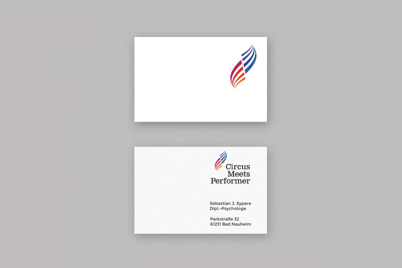Visitenkarten-Künstlerbranche-Briefpapier-Visitenkarte