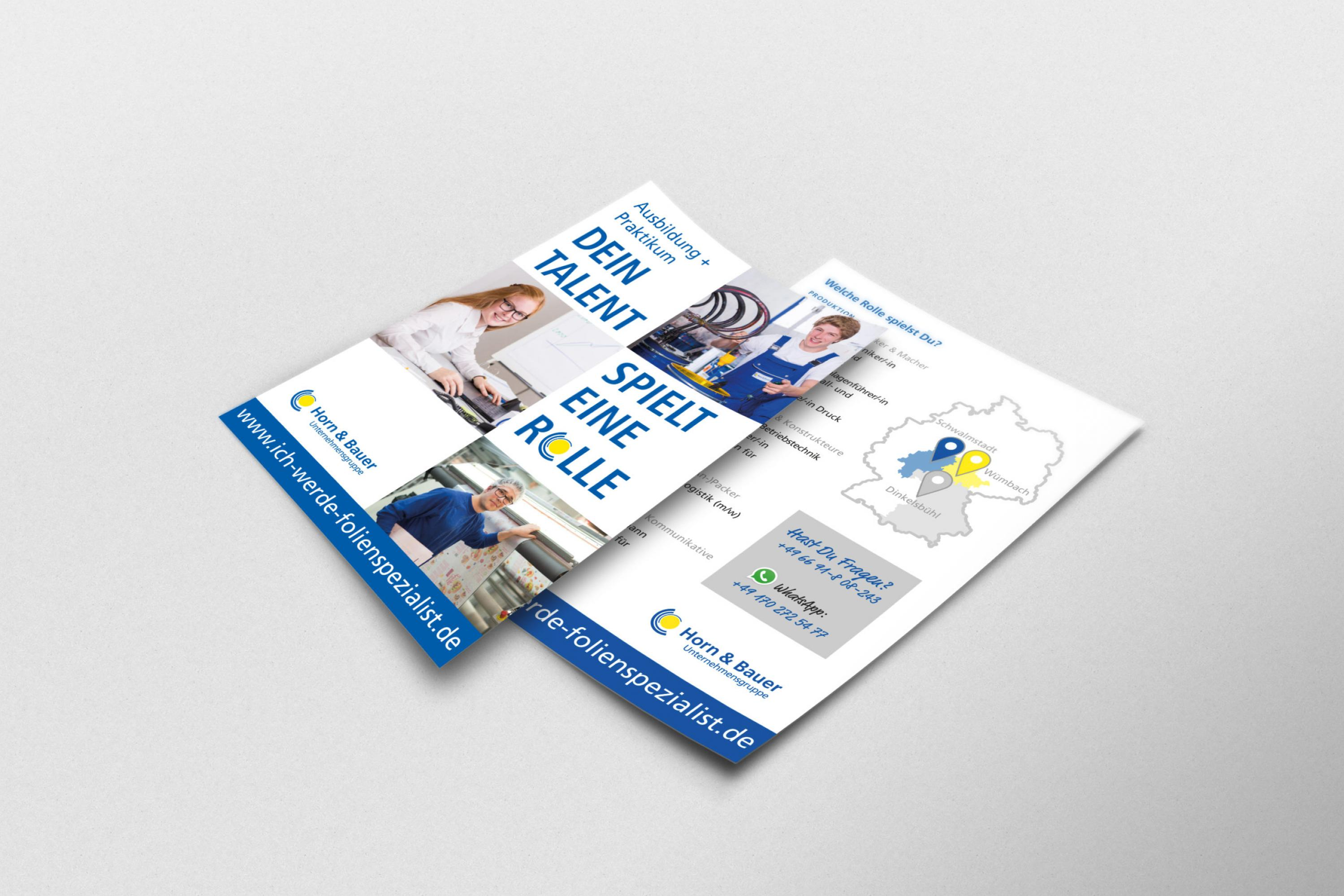 Webdesign-Printdesign-Ausbildungssuche-CorporateDesign-Horn-Bauer-Ausbildung_Flyer_A5