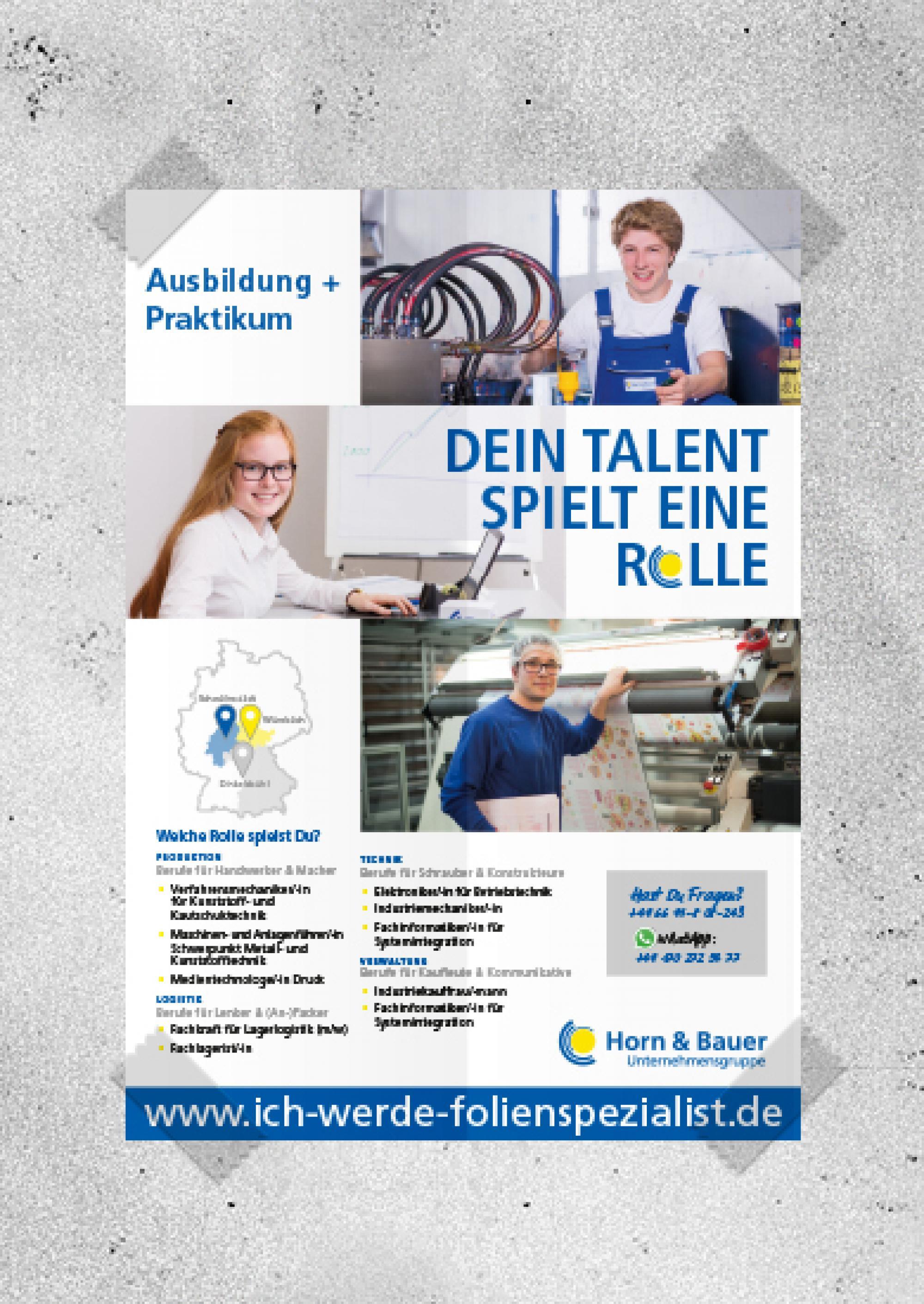 Webdesign-Printdesign-Ausbildungssuche-CorporateDesign-Horn-Bauer-Ausbildung_Plakat_A3