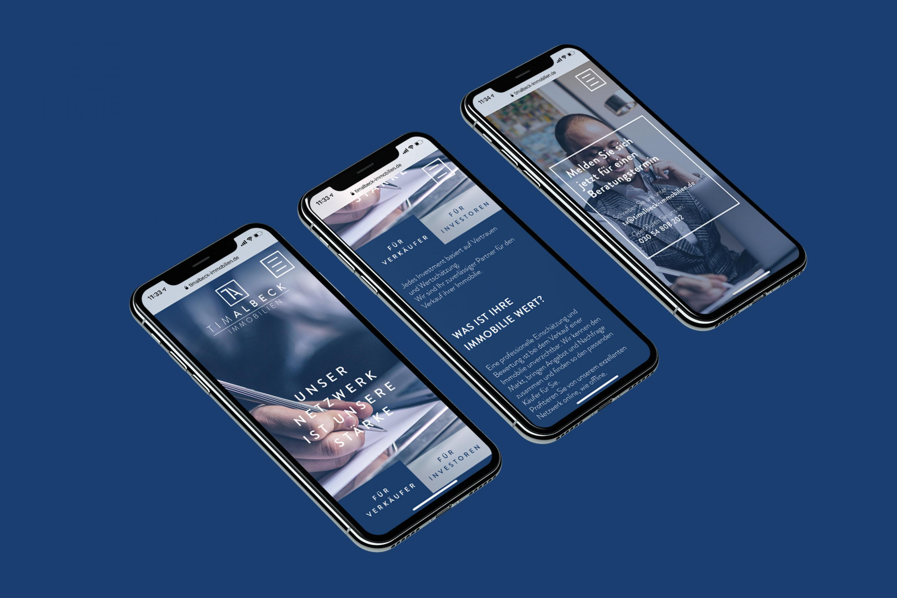 Mobile-Optimierung-Responsive-Webdesign-Tim-Albeck-Immobilien-FORMLOS-Berlin