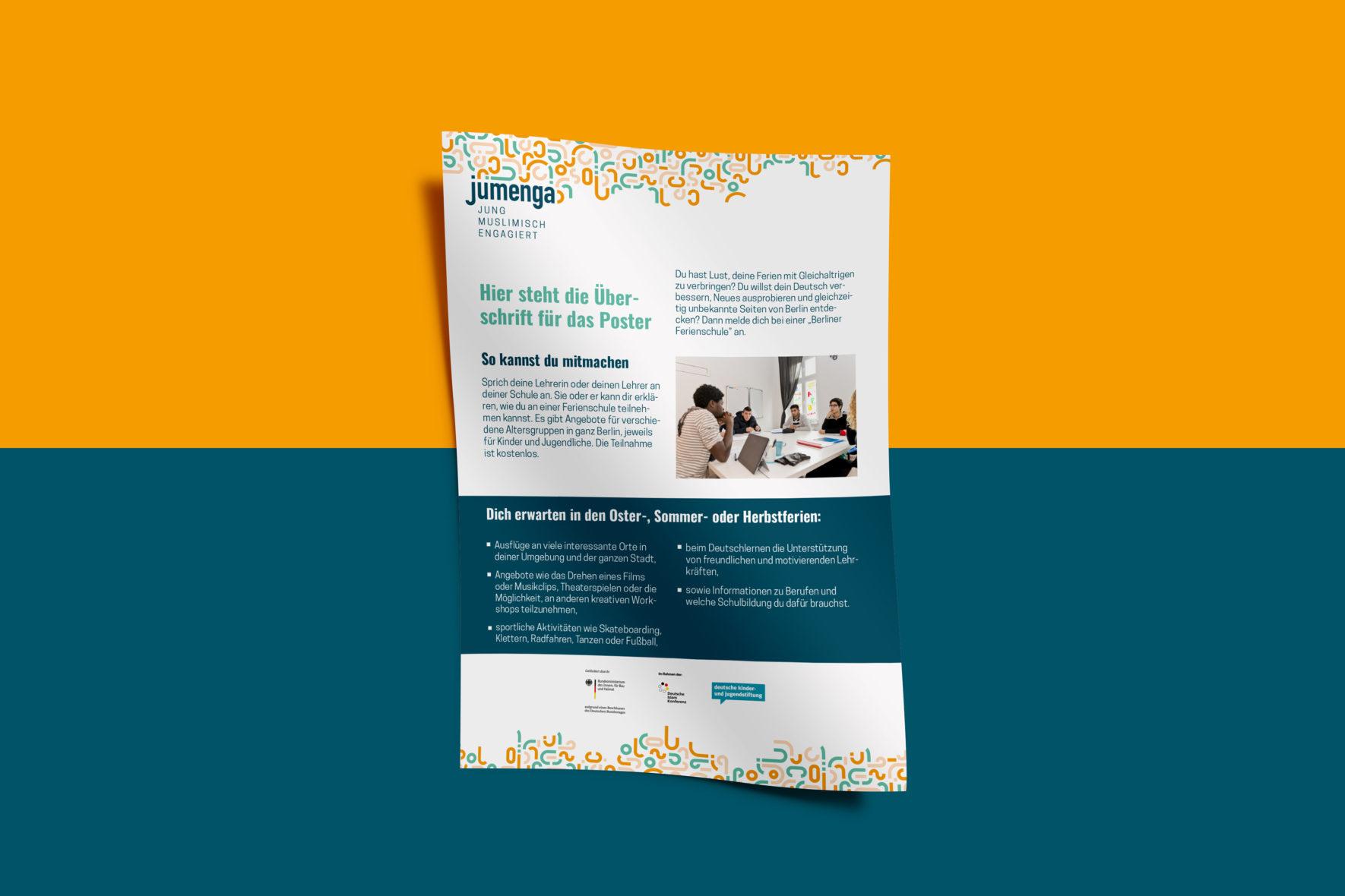 jumenga-Poster-Vorlage-Corporate-Design-Logo-social-FORMLOS-Berlin-Print