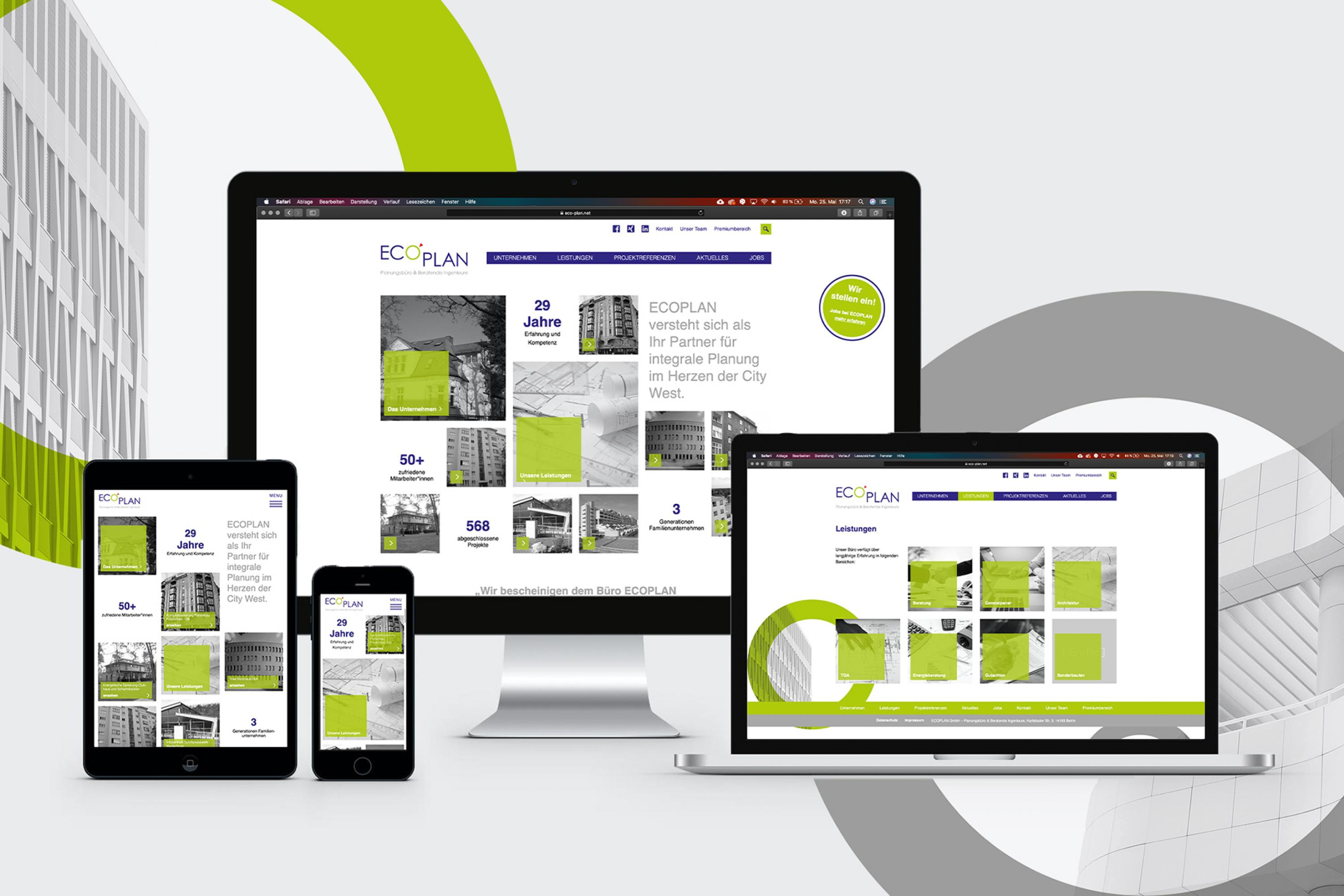 Webdesign-EcoPlan-FORMLOS-Berlin-Corporate-Design