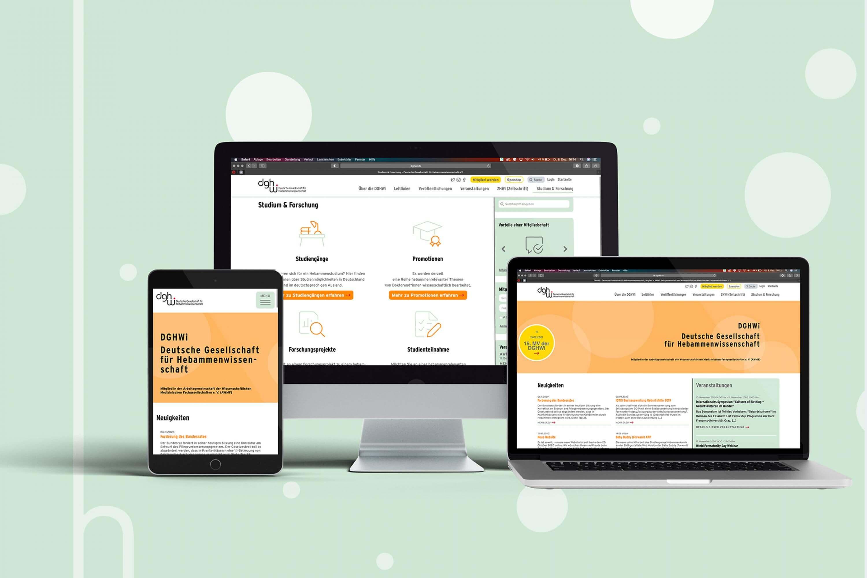 DGHWi-Deutsche Gesellschaft-fuer-Hebammenwissenschaft-Webdesign-Website-FORMLOS-Berlin-Tablet-mobil-respronsive-2