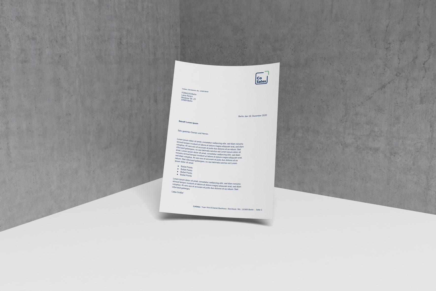 Briefpapier-CoSales-Corporate-Design-FORMLOS-Berlin-Gestaltung-Geschaeftsausstattung